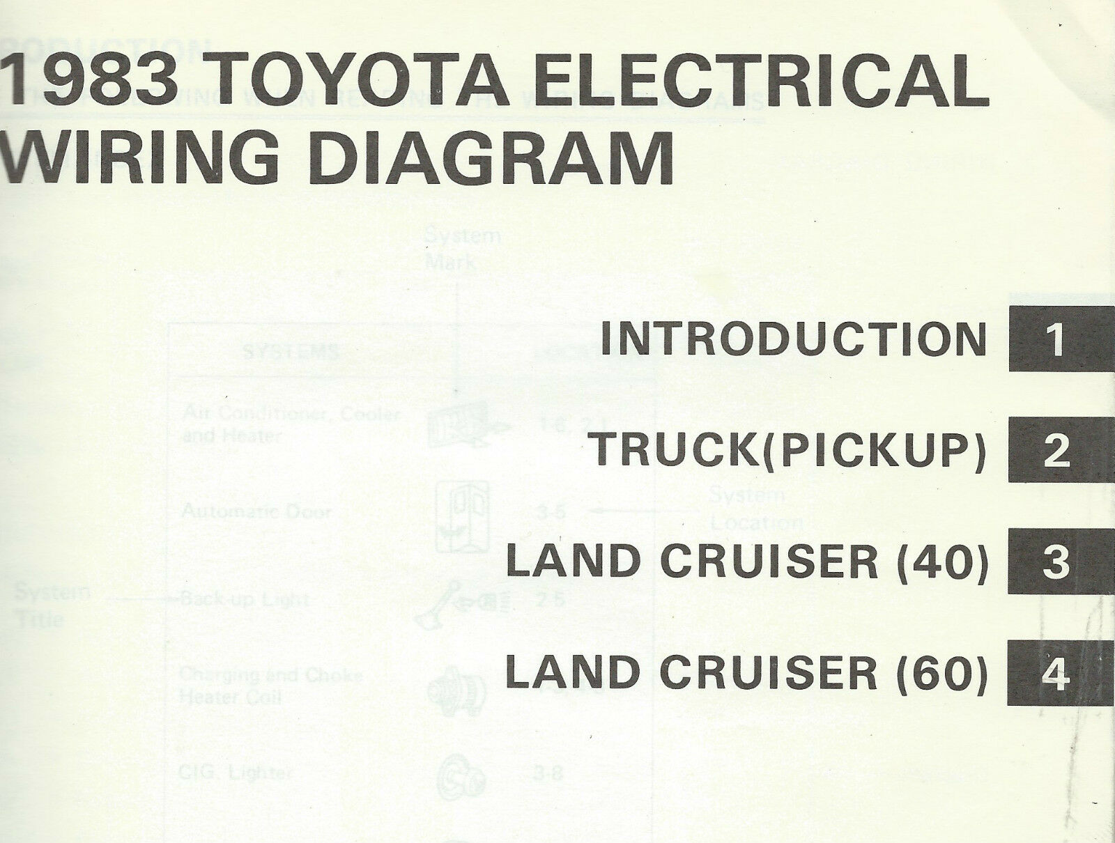 Toyota Hj60 Wiring Diagram Free And Schematics Land Cruiser Diagrams 2 Of 10 1983 Fj Bj 60 Series Electrical Repair Manual