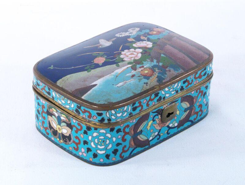 Antique Chinese ? Japanese ? Cloisonne Enamel  Box