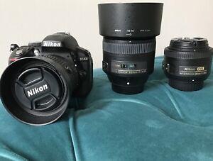Nikon D5300 DSLR Camera and Lenses