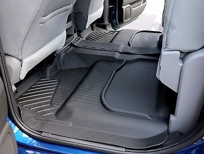 2015 2018 Chevy Silverado GMC Sierra Crew Cab GM OEM Rear All Weather Floor Mats