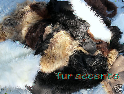 Shag Fur Rug Cutting Craft Samples Faux Fur Remnants Fabric Scraps  FIVE POUNDS