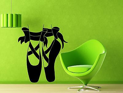 Vinyl Decal Wall Sticker Ballerina shoes for ballet pointes Room Decor (M569)