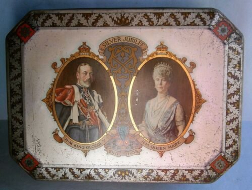 King George V & Queen Mary 1935 Silver Jubilee Commemorative Tin
