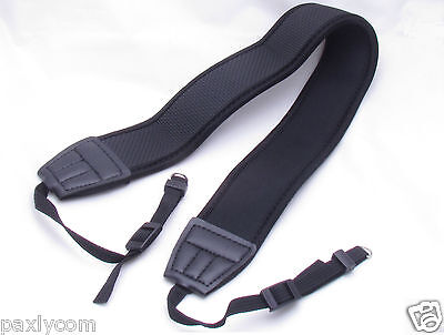 Neoprene Neck Shoulder Strap Camera Canon DSLR SLR Nikon Olympus Anti Slip EOS 5