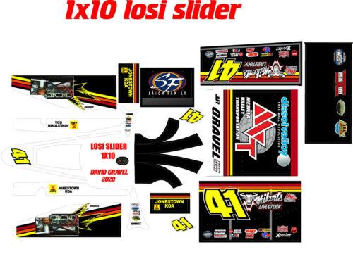 losi slider 1/10  wrap kit decal sticker DGWL2020
