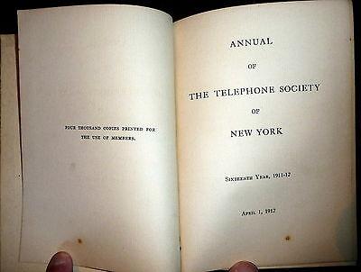 Telephone Society Of New York 1912 Annual Directory  Telephony