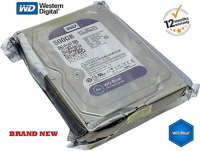 """Western Digital 500GB Hard Drive CCTV Desktop DVR SATA 3.5 """" 7200rpm WD5000AAKX"""