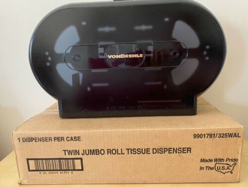 Vondrehle Twin Jumbo Roll Toilet Tissue Dispenser-9901791/325WAL