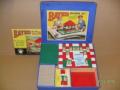 ORIGINAL VINTAGE 1955 BAYKO BUILDING SET 1 BOXED. EXCELLENT CONDITION.