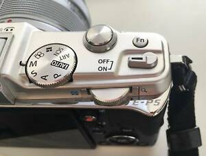 Olympus Pen E-P5 Digital Camera and VF4 electronic view finder