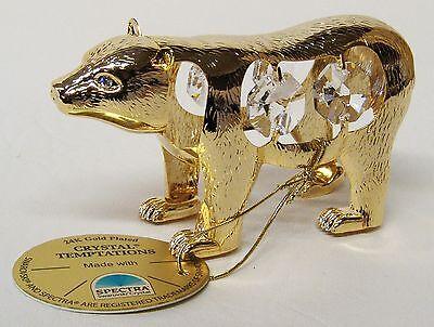 3848 Gold Polar Bär Swarovski Components Kristall 24Karat Crystal 9 cm