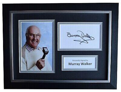 Murray Walker Signed A4 Framed Autograph Photo Display Formula 1 Sport AFTAL COA