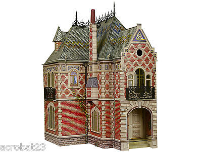 Victorian DOLL HOUSE #2 DIY Dollhouse Miniature Scale 1:12 Model Kit for sale  Shipping to Canada