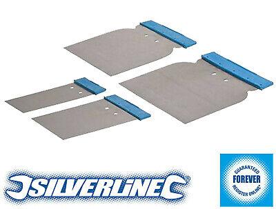 Silverline 4 Piece Body Filler Application Set Spreaders Bodyfiller Putty etc