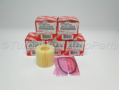 Toyota Genuine OEM Oil Filter 04152-YZZA6 Set of 5