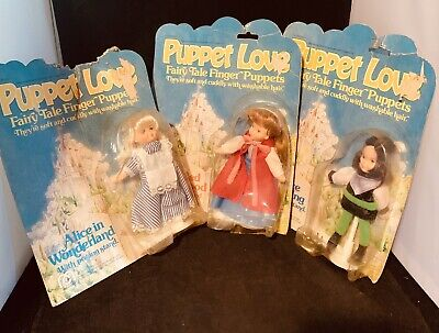 Vntg 77 Toy Mego Finger Puppet Fairy Tale Lot 3 Alice, Red, Prince Charming Doll