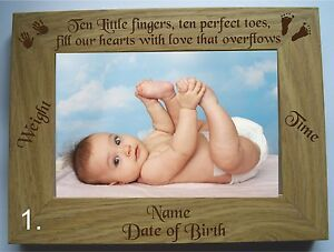PERSONALISED ENGRAVED NEW BABY/ BABY SCAN WOODEN 4