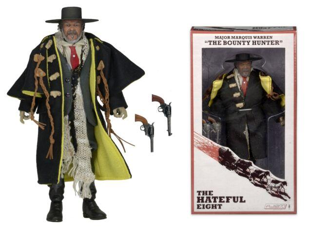 "NECA The Hateful Eight Major Marquis Warren Bounty Hunter 8"" Figure/Doll Clothed"