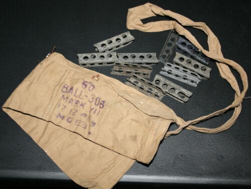 WW2 Enfield Bandolier & 10 Stripper Clips .303 British Surplus No. 1 4 5 SMLE