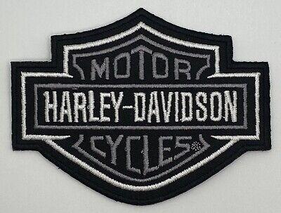 Harley Davidson Black Gray Motorcycle Patch Vintage Style Retro Hat Cap
