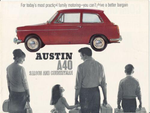 Austin A40 Saloon & Countryman 1965-8 Original Car Sales Brochure UK Edition