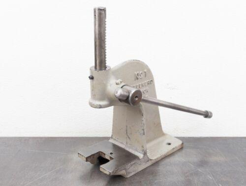 Greenerd No 1 Arbor Press 1/4 Ton Hand Press Rack And Pinion Bench Press
