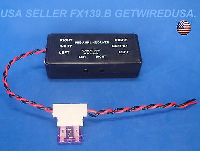 us seller PRE-AMP RCA INPUT / OUTPUT ADJUSTABLE LINE DRIVER SIGNAL BOOSTER LD-10