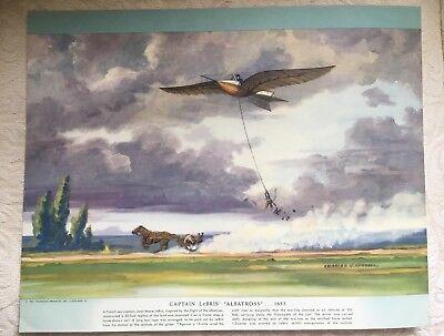 1952 Charles Hubbell print LeBRIS' ALBATROSS Airplane History of Flight
