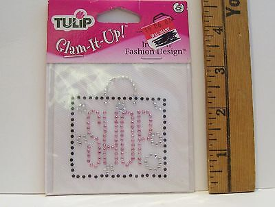 - TULIP GLAM IT UP IRON ON RHINESTONES SHOP IN BAG NEW IN PACKAGE SHIRT CRAFTS