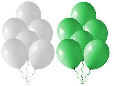 Luftballons Ø25cm Grün+Weiß  gem. Schützenfest Deko Ballons Geburtstag NEU ()
