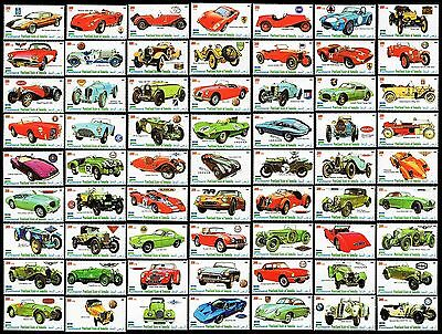 CAR STAMPS - Automobile Collection - Large 66 Stamp Set (2010 MNH)