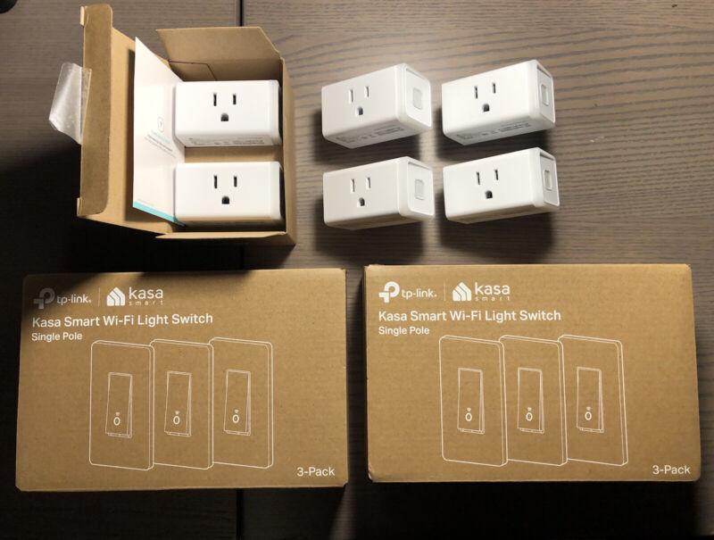 KASA 6 TP-Link HS200 Smart Plug + 6 HS103 Light Switch Alexa Google Homekit WiFi