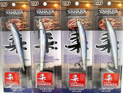 "Lucky Craft Flash Minnow 5//8 Oz Yawara 125FW 5/"" Floating Jerkbaits Sayori 4"