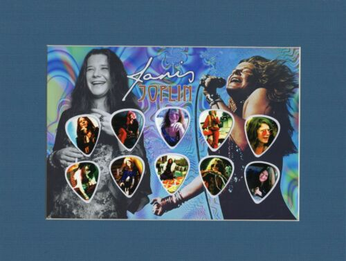 Janis Joplin Matted Picture Guitar Pick Cry Baby Me and Bobby McGee Summertime