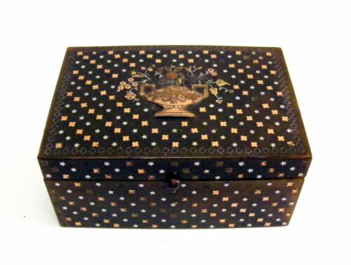 18th/19th C. French Gold & Silver Inlaid Pique faux Tortoiseshell Snuff Box