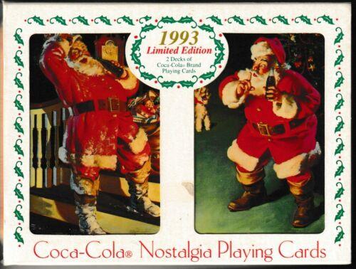 2 Decks Coca Cola 1993 Nostalgia Limited Edition Playing Cards Collectible Tin