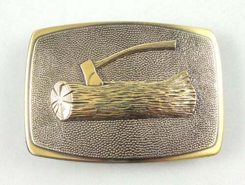 Woodbadge Beautiful Brass Belt Buckle w/ Presentation Case - Boy Scouts BSA