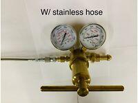 1400 Psi Nitrogen regulator W// 6' stainless Hose  w// no loss Air chuck Shock
