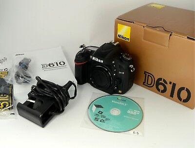Nikon D610 DSLR Kamera / Body / Gehäuse mit 9.900 Auslösungen (Nikon D610 Kamera)