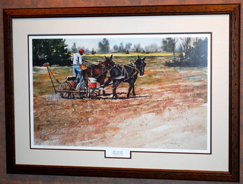 """Planting Time"" Art Print by Lafayette Ragsdale in 35""x25"" Frame (MS147)"