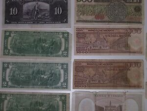 REDUCED 17 Assorted Canadian USA,Italian Mexican paper currency, Cornwall Ontario image 7