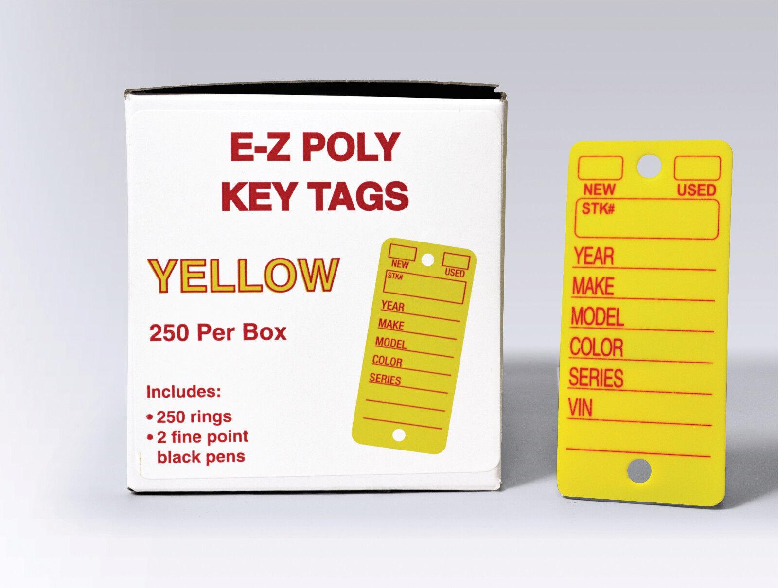 Automotive Poly Key Tags | polyethylene, heavy duty | EZ426 Yellow or White