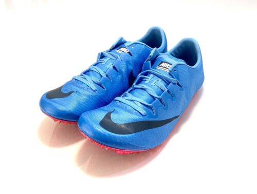 Nike Zoom Superfly Elite Mens Blue Track Spikes 835996-446 Size 12 12.5