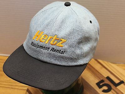 Black Light Rental (HERTZ EQUIPMENT RENTAL HAT LIGHT BLUE DENIM/BLACK ADJUSTABLE VERY GOOD)