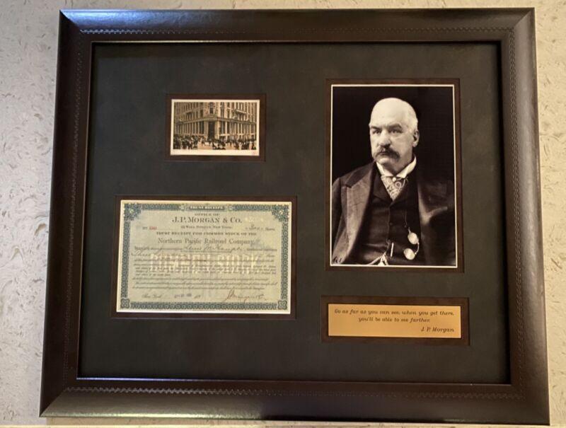 Vintage JP Morgan & Co Signed Stock Certificate and Memorabilia