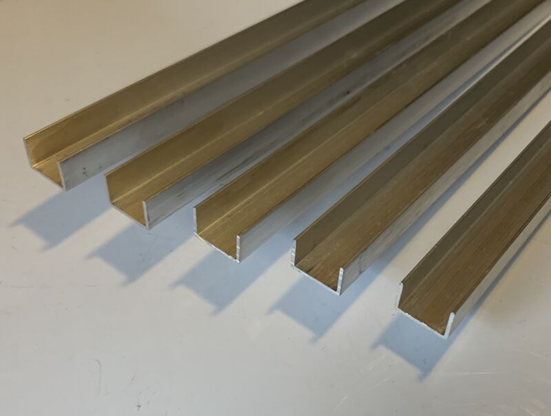 Light duty Clear Anodized Aluminum Channel 14.5 x 9.5 x 1mm 30in Long *10 Pieces