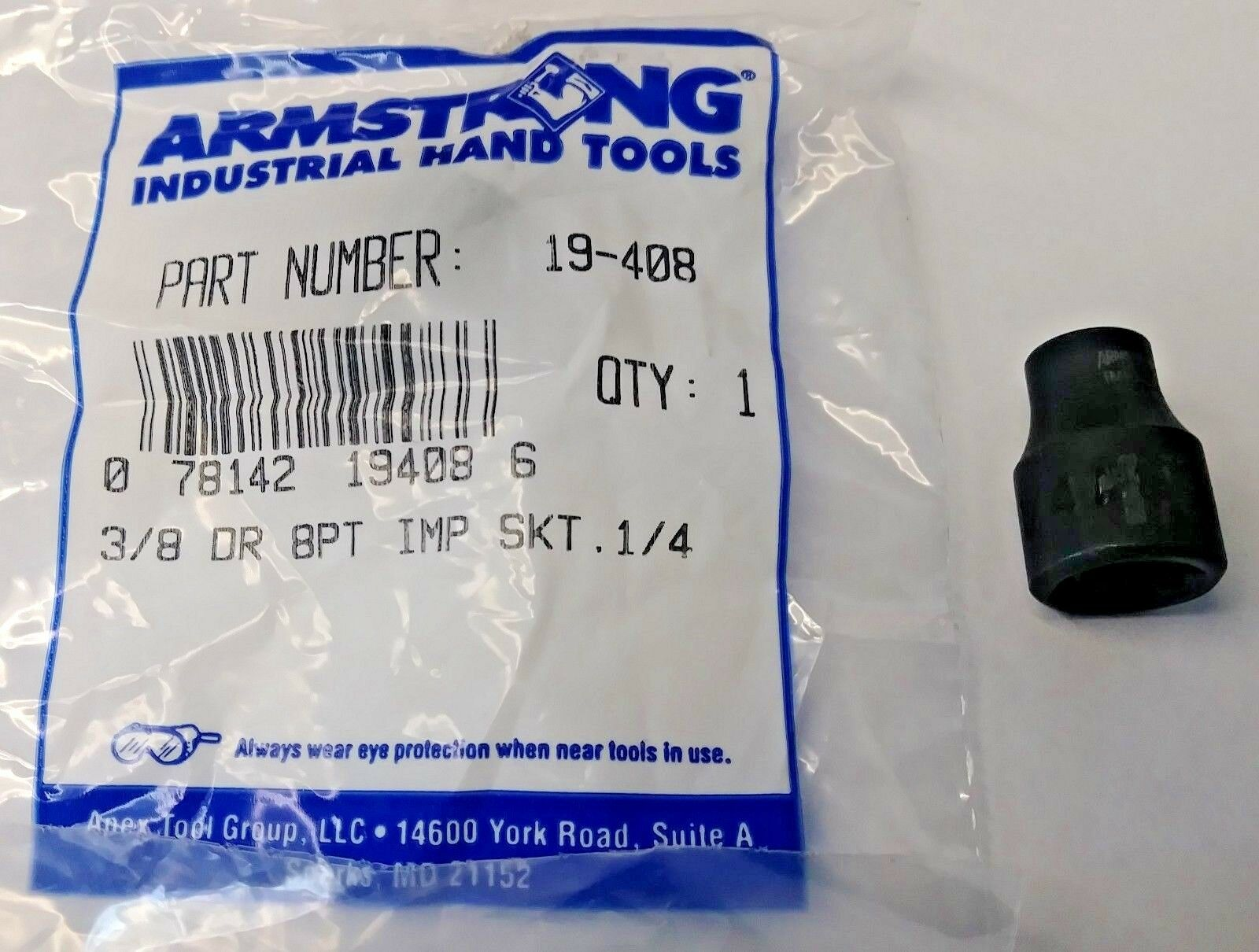 """Armstrong 39-117A 17mm 12 Point 1//2/"""" Drive Socket USA 2PCS"""
