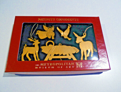 Metropolitan Museum of Art MMA Christmas Nativity Ornaments 2011 Etched Brass