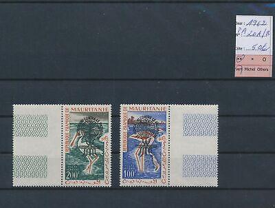LO14315 Mauritania 1962 airmail anti-malaria overprint lot MNH cv 50 EUR