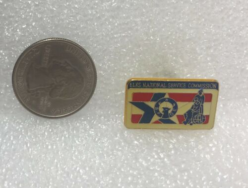 Elks National Service Commission Pin
